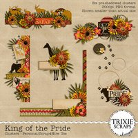 King of the Pride Digital Scrapbooking Clusters Disney