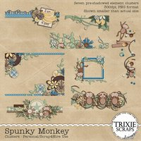Spunky Monkey Digital Scrapbooking Clusters