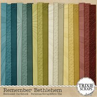 Remember Bethlehem Digital Scrapbooking Embossed Cardstock