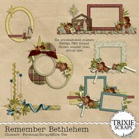 Remember Bethlehem Digital Scrapbooking Clusters