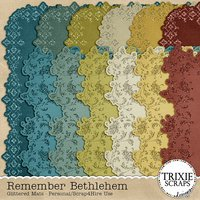 Remember Bethlehem Digital Scrapbooking Glittered Mats