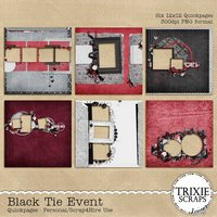 Black Tie Event Digital Scrapbooking Quickpages Wedding Formal Special Event