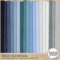 Blue Christmas Digital Scrapbooking Cardstock