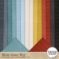 Blue Jean Boy Digital Scrapbooking Cardstock
