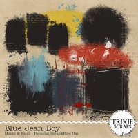 Blue Jean Boy Digital Scrapbooking Masks & Paint