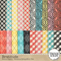 Bratitude Digital Scrapbook Bonus Papers