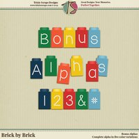 Brick by Brick Digital Scrapbooking Bonus Alphas