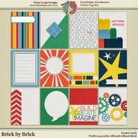 Brick by Brick Digital Scrapbooking Pocket Cards
