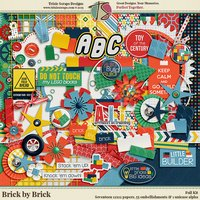 Brick by Brick Digital Scrapbooking Kit