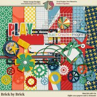 Brick by Brick Digital Scrapbooking Add-On Mini Kit