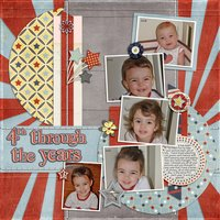 Bursting with Photos vol 1 Digital Scrapbooking Templates PSD/TIF/PAGE