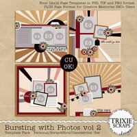 Bursting with Photos vol 2 Digital Scrapbooking Templates PSD/TIF/PAGE