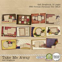 Take Me Away Digital Scrapbooking Bragbook