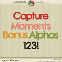 Capture Moments Digital Scrapbooking Bonus Alphas