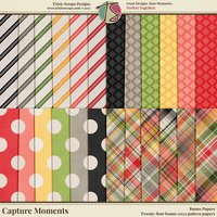 Capture Moments Digital Scrapbooking Bonus Papers