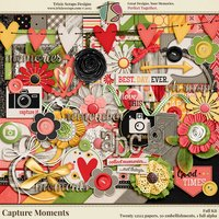 Capture Moments Digital Scrapbooking Kit