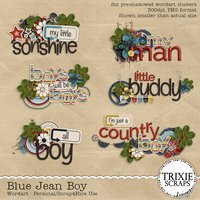 Blue Jean Boy Digital Scrapbooking Wordart