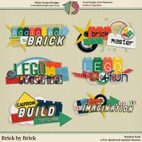 Brick by Brick Digital Scrapbooking Wordart