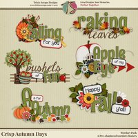 Crisp Autumn Days Digital Scrapbooking Wordart