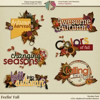 Feelin' Fall Digital Scrapbooking Wordart