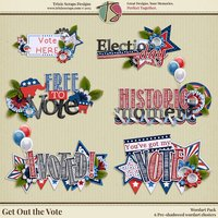 Get Out the Vote Digital Scrapbooking Wordart