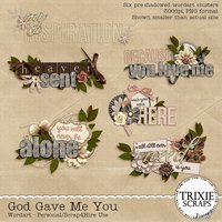 God Gave Me You Digital Scrapbooking Wordart