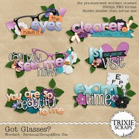 Got Glasses? Digital Scrapbooking Wordart