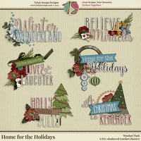 Home for the Holidays Digital Scrapbooking Wordart