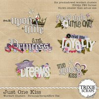 Just One Kiss Digital Scrapbooking Wordart Clusters Disney