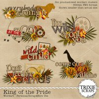King of the Pride Digital Scrapbooking Wordart Disney