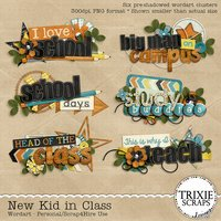 New Kid in Class Digital Scrapbooking Wordart