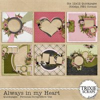 Always in my Heart Digital Scrapbooking Quickpages
