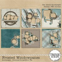 Frosted Windowpanes Digital Scrapbooking Quickpages