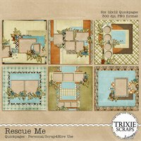 Rescue Me Digital Scrapbooking Quickpages
