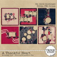 A Thankful Heart Digital Scrapbooking Quickpages