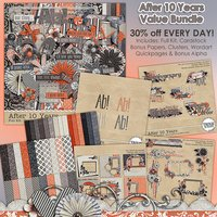After 10 Years Digital Scrapbooking Value Bundle