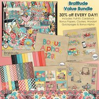 Bratitude Digital Scrapbook Value Bundle