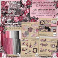 Get the Party Started Digital Scrapbooking Value Bundle
