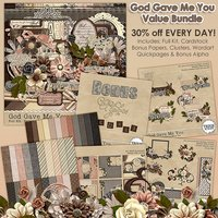 God Gave Me You Digital Scrapbooking Value Bundle