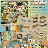 New Kid in Class Digital Scrapbooking Value Bundle Elementary School