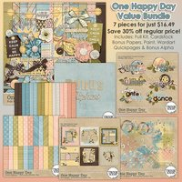 One Happy Day Digital Scrapbooking Value Bundle