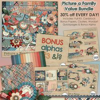 Picture a Family Digital Scrapbooking Value Bundle
