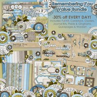 Remembering You Digital Scrapbooking Value Bundle