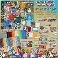 Social Butterfly Digital Scrapbooking Value Bundle