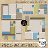 Collage Collectors vol 1 Digital Scrapbooking Templates PSD/TIF/PAGE