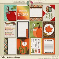 Crisp Autumn Days Digital Scrapbooking Pocket Cards