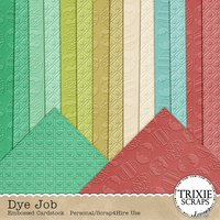 Dye Job Digital Scrapbooking Embossed Cardstock Easter