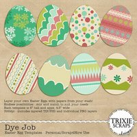 Dye Job Egg Easter Digital Scrapbooking Templates PSD/TIF