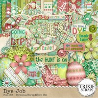 Dye Job Digital Scrapbooking Kit Easter Bunny Eggs