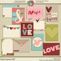Ewe Loves Ya? Digital Scrapbooking Pocket Cards - Valentine's Day Love